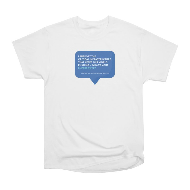 I Support the Critical Infrastructure That Keeps Our World Running Women's T-Shirt by graymattermerch's Artist Shop