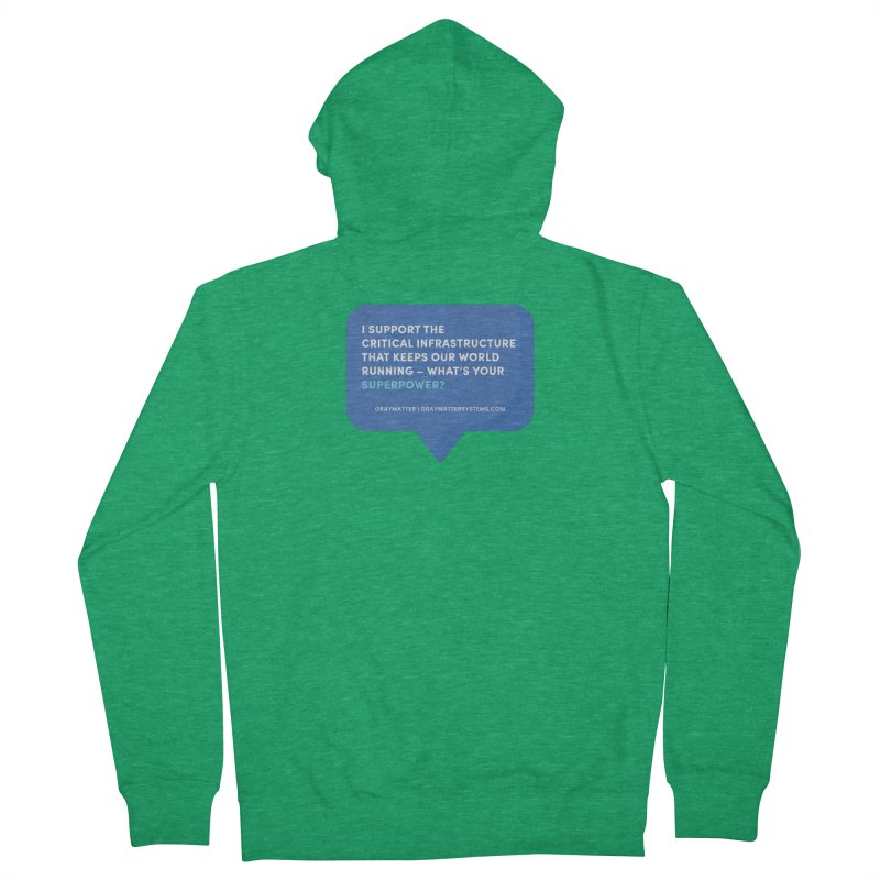 I Support the Critical Infrastructure That Keeps Our World Running Men's Zip-Up Hoody by graymattermerch's Artist Shop