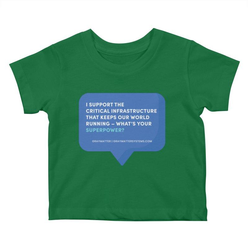 I Support the Critical Infrastructure That Keeps Our World Running Kids Baby T-Shirt by graymattermerch's Artist Shop