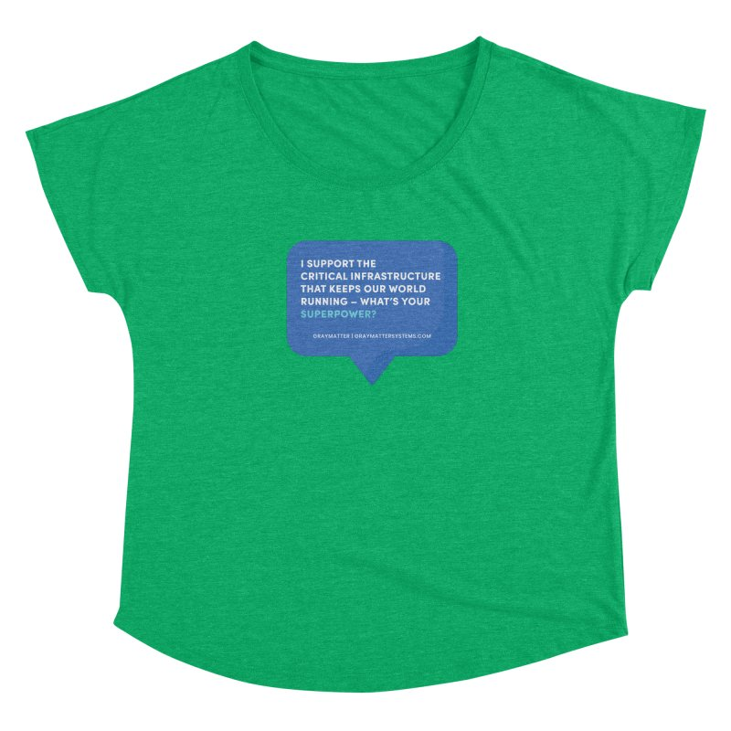 I Support the Critical Infrastructure That Keeps Our World Running Women's Scoop Neck by graymattermerch's Artist Shop
