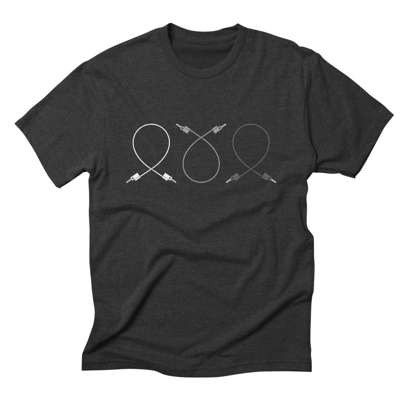 Nanas (grayscale) in Men's Triblend T-shirt Heather Onyx by Grayscale