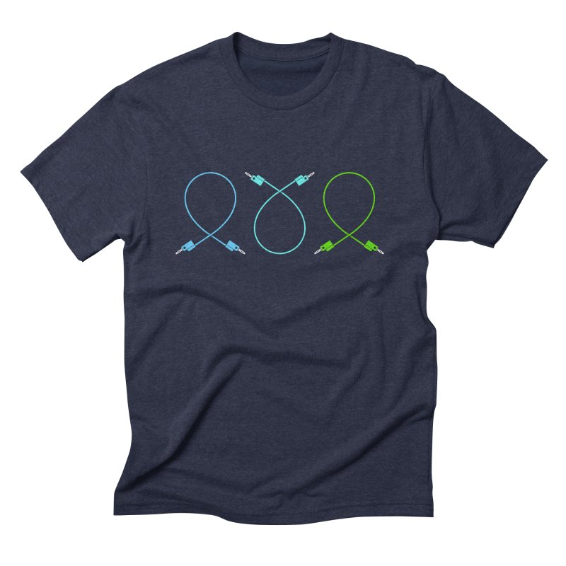 Nanas (cool) in Men's Triblend T-shirt Navy by Grayscale