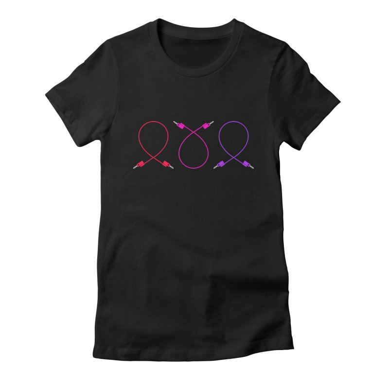 Nanas (neon) Women's Fitted T-Shirt by Grayscale