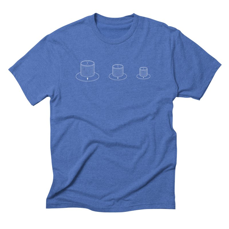 RB67 (wireframe) in Men's Triblend T-Shirt Blue Triblend by Grayscale