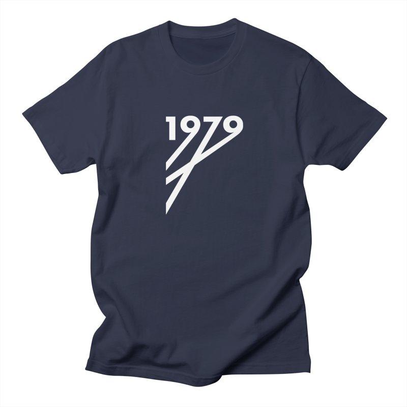 1979 Diagonals (White) Men's Regular T-Shirt by Grayscale
