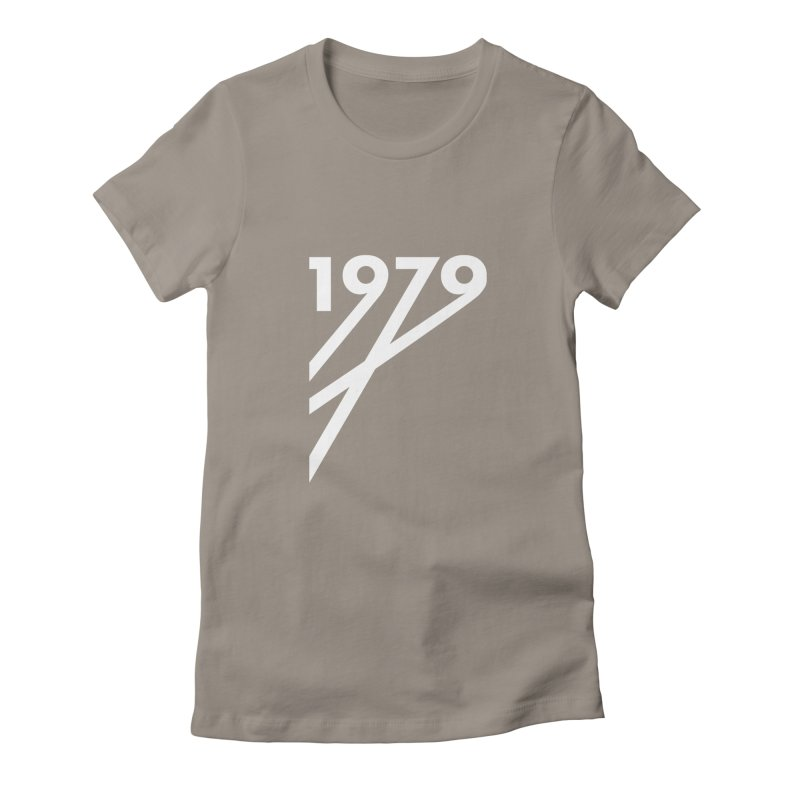 1979 Diagonals (White) Women's Fitted T-Shirt by Grayscale