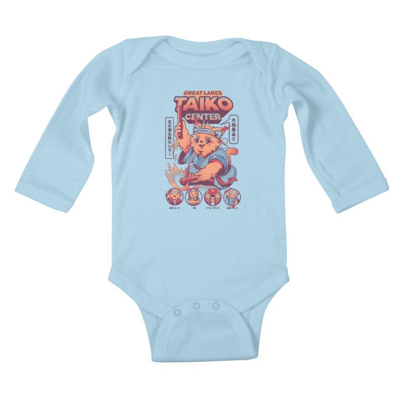 Great Lakes Taiko Center Kids Baby Longsleeve Bodysuit by Great Lakes Taiko Center's Merch Shop