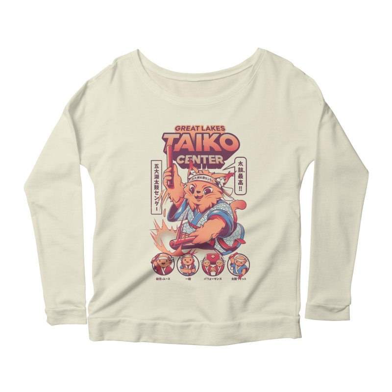 Great Lakes Taiko Center Women's Scoop Neck Longsleeve T-Shirt by Great Lakes Taiko Center's Merch Shop