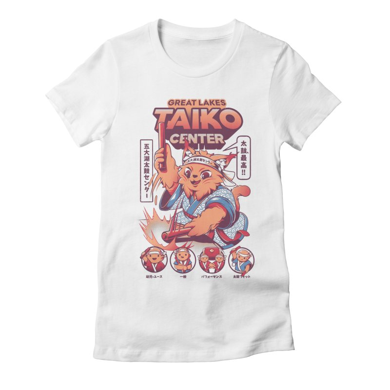 Great Lakes Taiko Center Women's Fitted T-Shirt by Great Lakes Taiko Center's Merch Shop