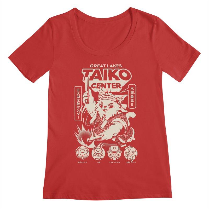 Great Lakes Taiko Centre Women's Regular Scoop Neck by Great Lakes Taiko Center's Merch Shop