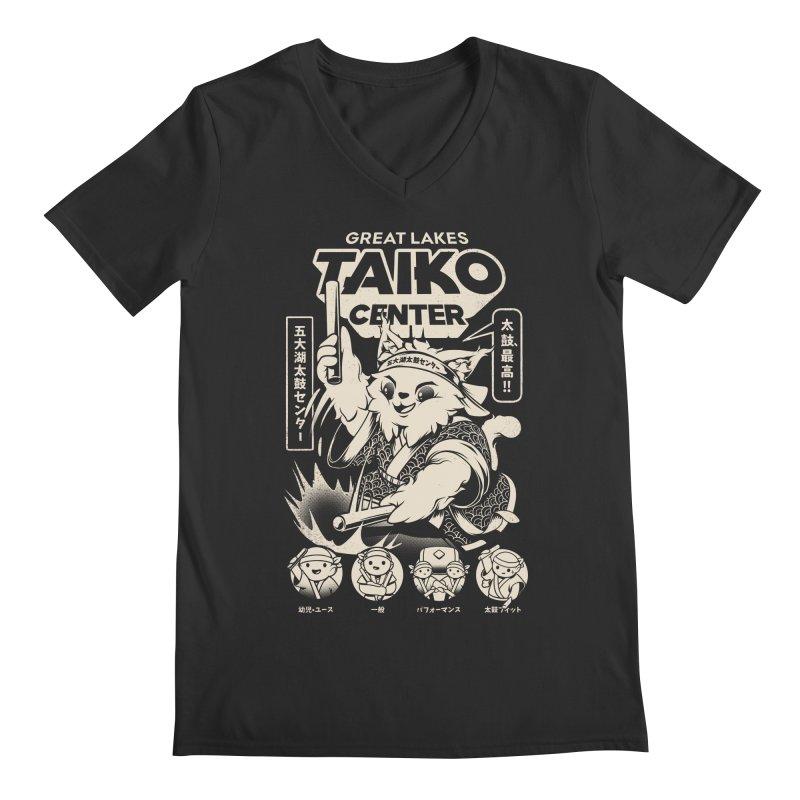 Great Lakes Taiko Centre Men's Regular V-Neck by Great Lakes Taiko Center's Merch Shop