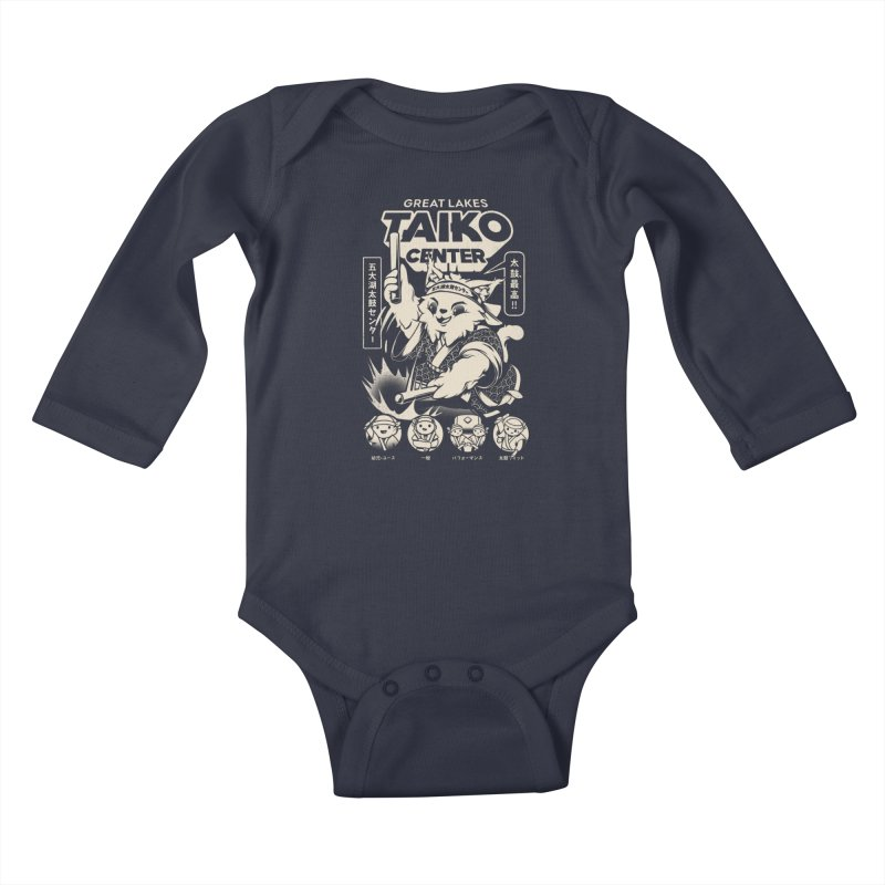 Great Lakes Taiko Centre Kids Baby Longsleeve Bodysuit by Great Lakes Taiko Center's Merch Shop