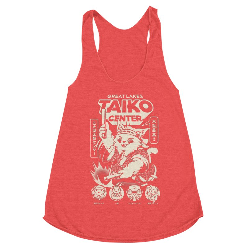 Great Lakes Taiko Centre Women's Racerback Triblend Tank by Great Lakes Taiko Center's Merch Shop