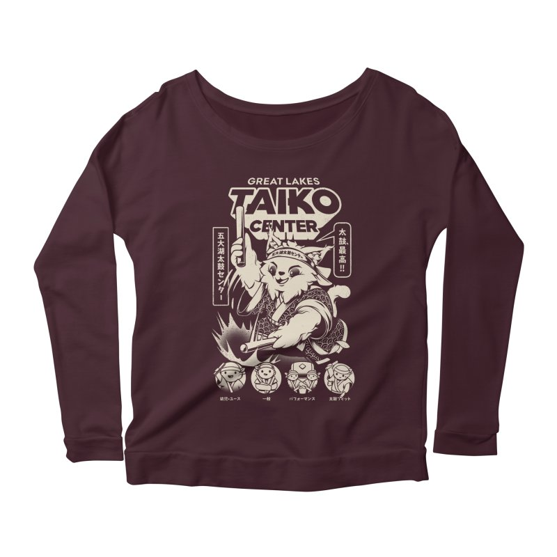 Great Lakes Taiko Centre Women's Scoop Neck Longsleeve T-Shirt by Great Lakes Taiko Center's Merch Shop