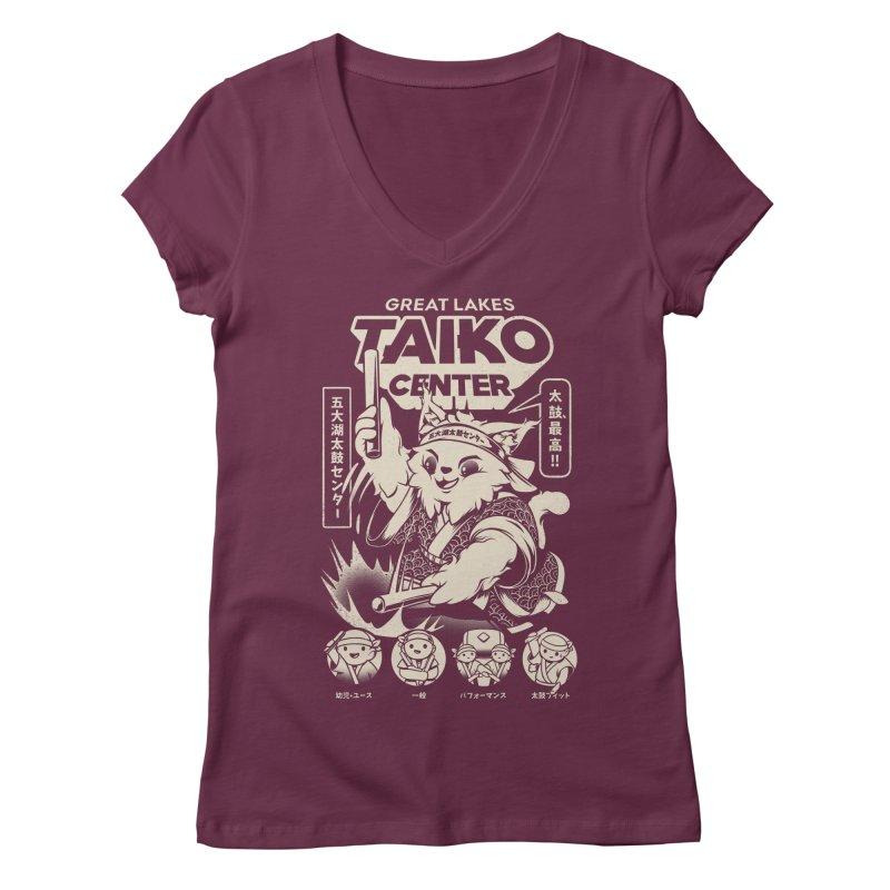 Great Lakes Taiko Centre Women's Regular V-Neck by Great Lakes Taiko Center's Merch Shop