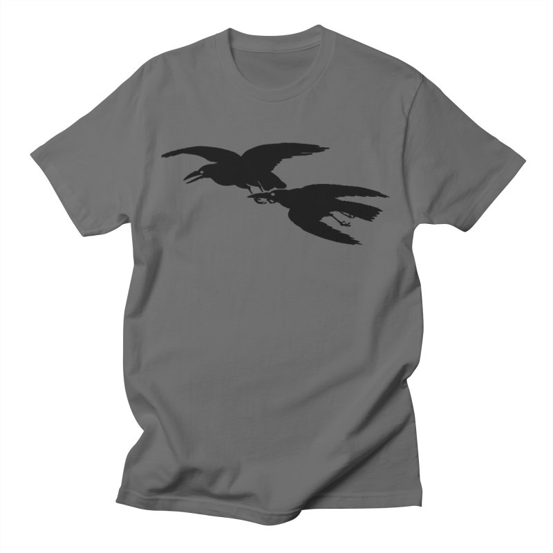Flying Crows Men's T-Shirt by Green Grackle Studio