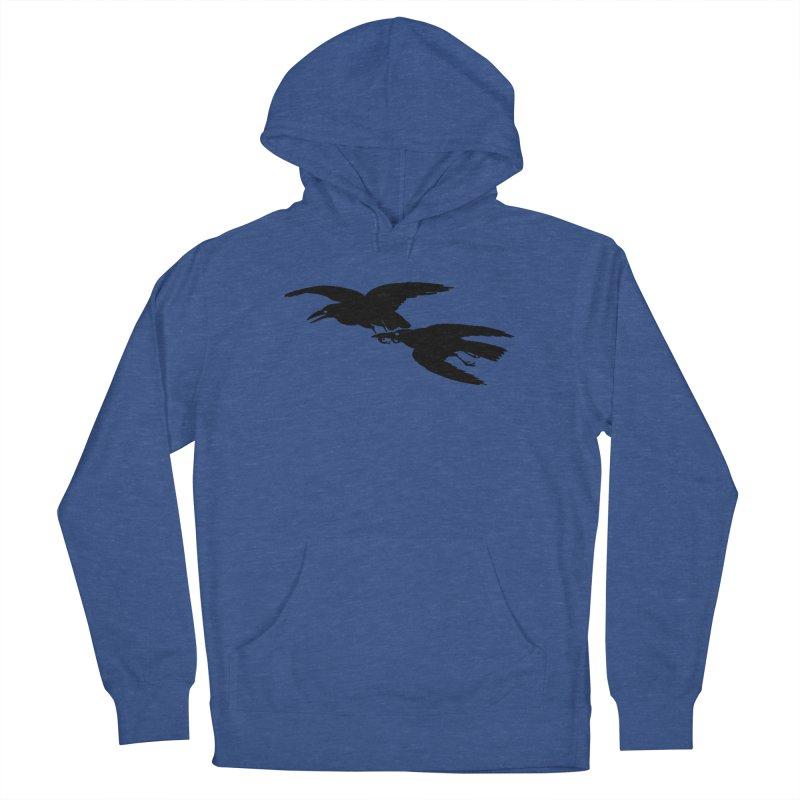 Flying Crows Men's Pullover Hoody by Green Grackle Studio