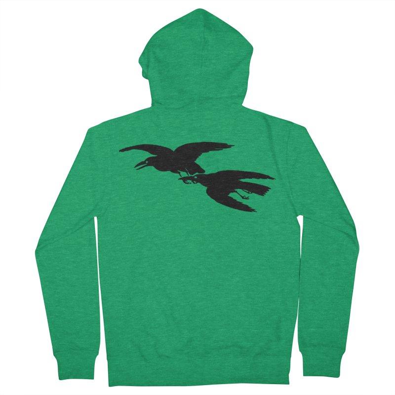 Flying Crows Men's Zip-Up Hoody by Green Grackle Studio