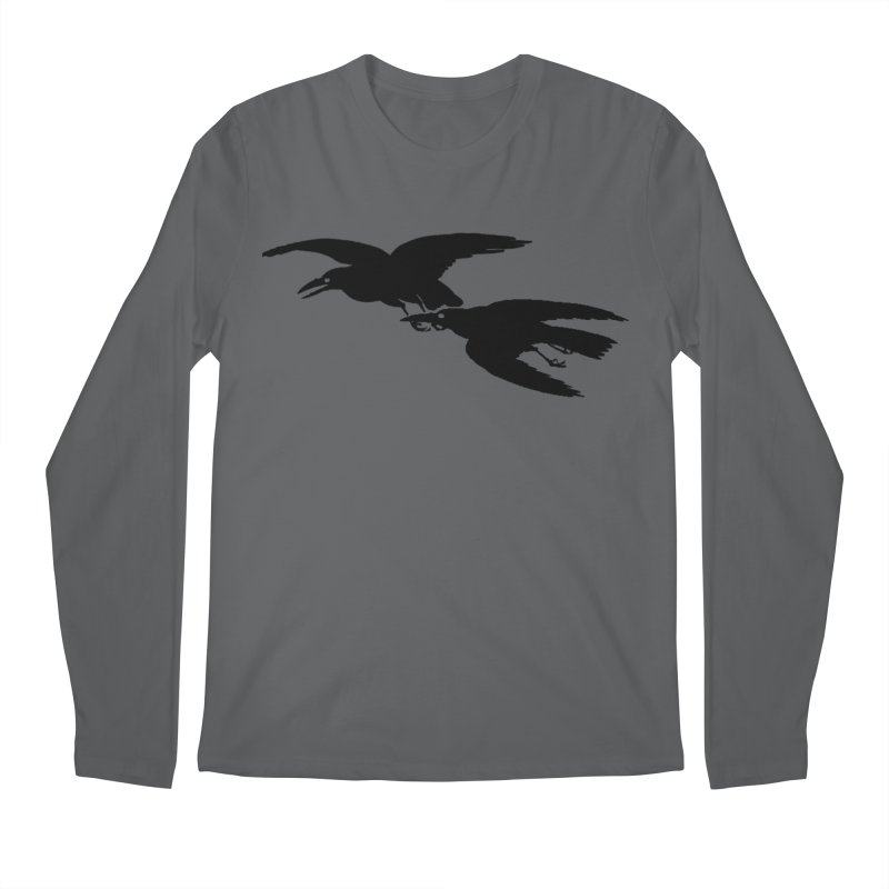 Flying Crows Men's Longsleeve T-Shirt by Green Grackle Studio