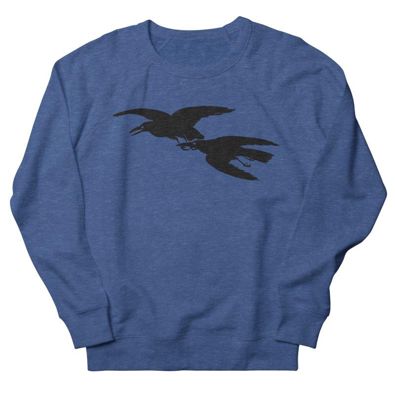 Flying Crows Men's Sweatshirt by Green Grackle Studio