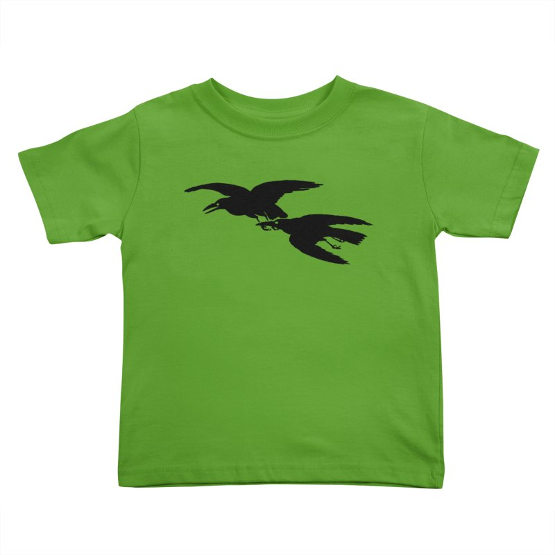 Flying Crows Kids Toddler T-Shirt by Green Grackle Studio