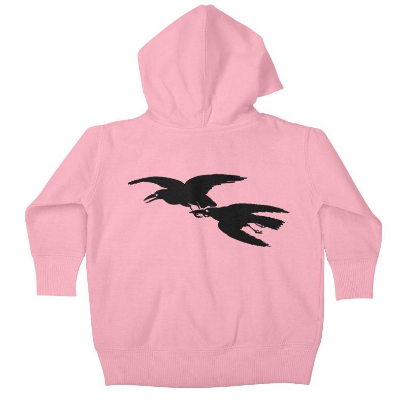 Flying Crows Kids Baby Zip-Up Hoody by Green Grackle Studio