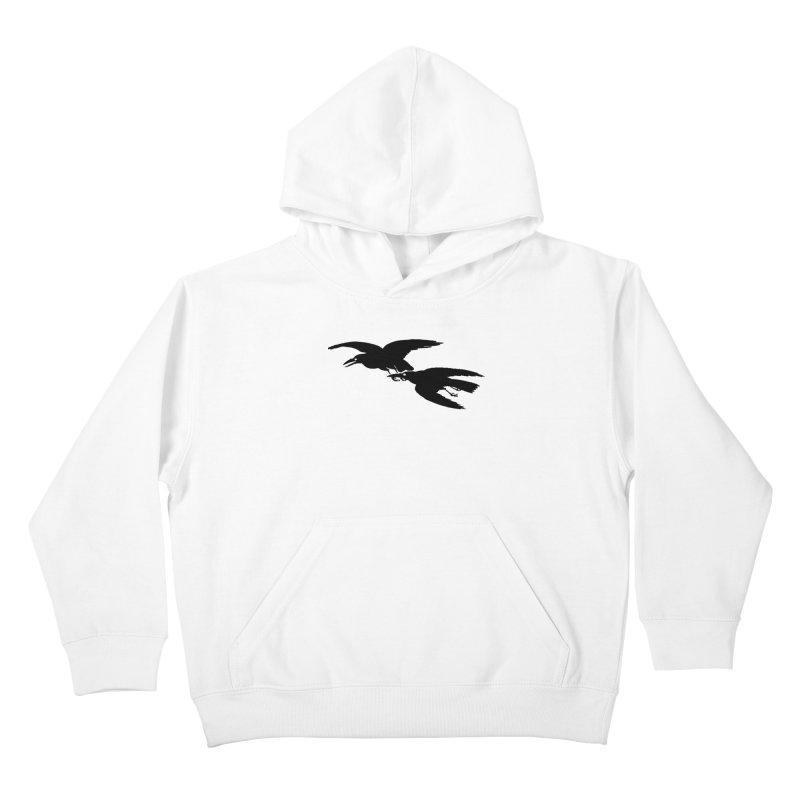 Flying Crows Kids Pullover Hoody by Green Grackle Studio