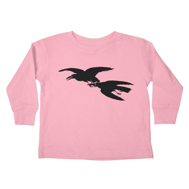 Flying Crows Kids Toddler Longsleeve T-Shirt by Green Grackle Studio
