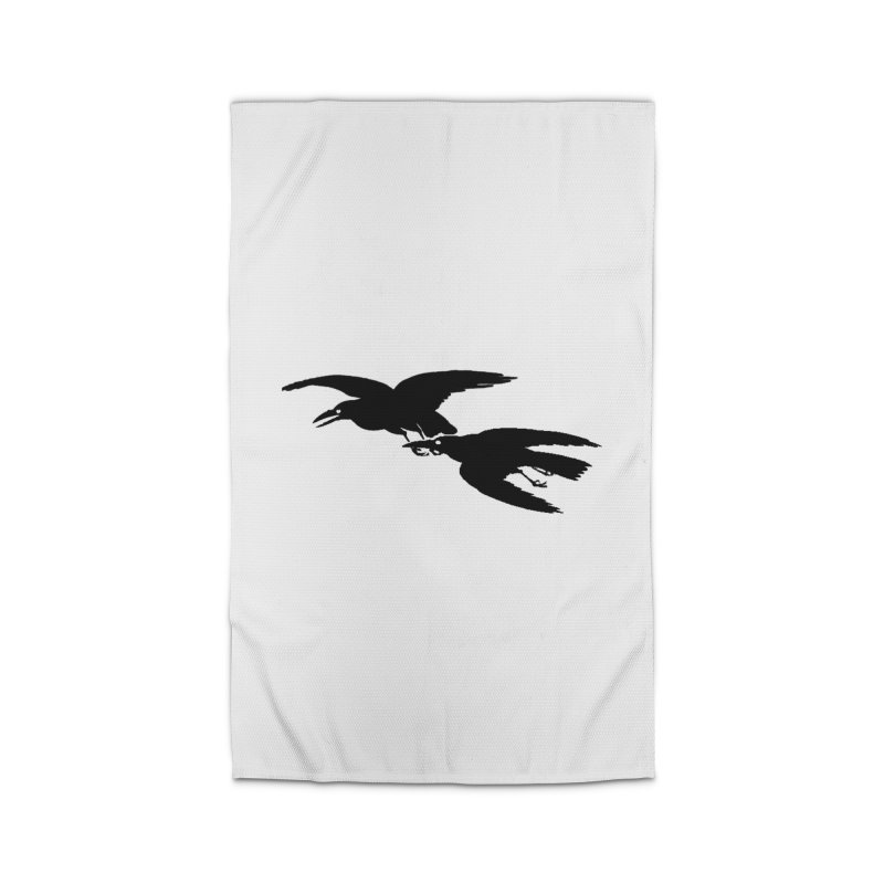 Flying Crows Home Rug by Green Grackle Studio