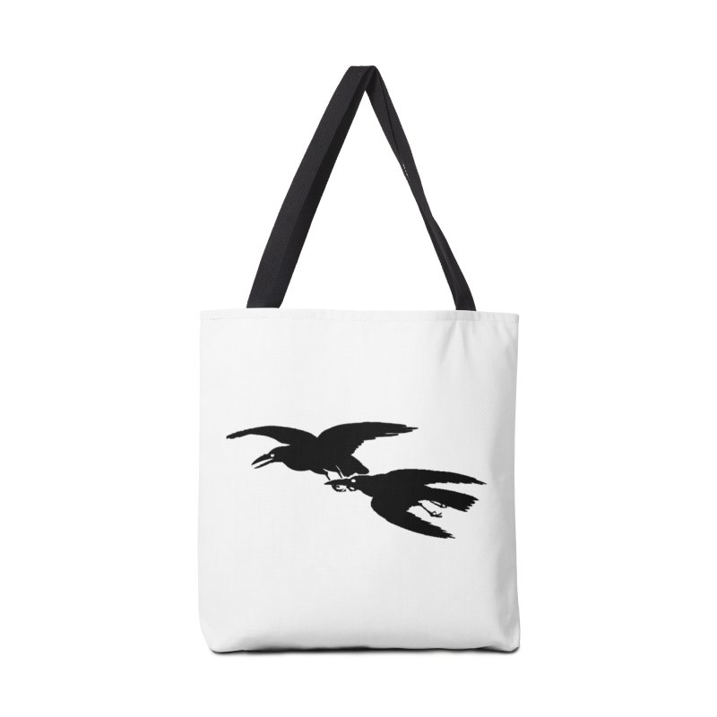 Flying Crows Accessories Bag by Green Grackle Studio