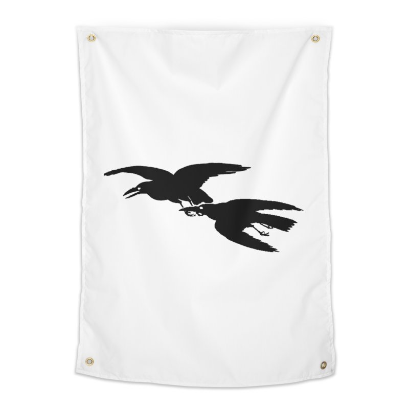 Flying Crows Home Tapestry by Green Grackle Studio