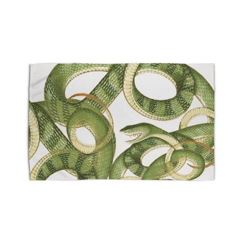 Green Snake Tangle Home Rug by Green Grackle Studio