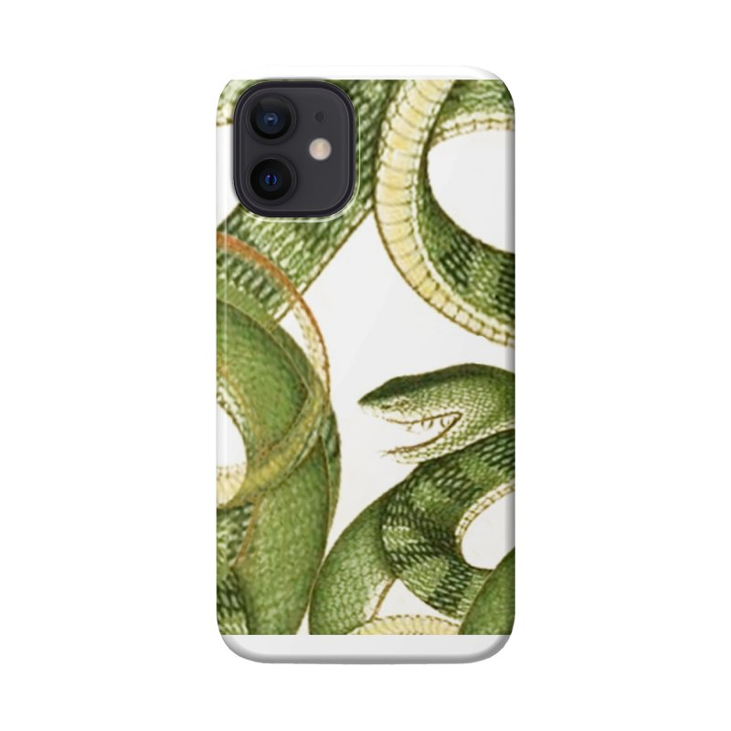 Green Snake Tangle Accessories Phone Case by Green Grackle Studio