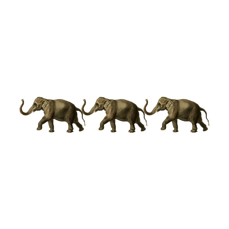 Elephants Marching by Green Grackle Studio