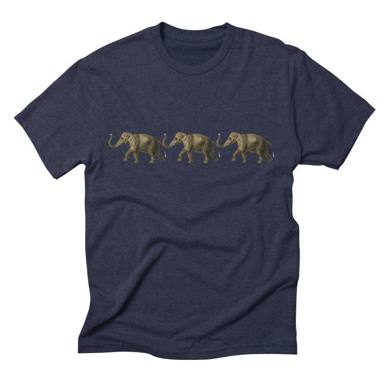 Elephants Marching Men's T-Shirt by Green Grackle Studio