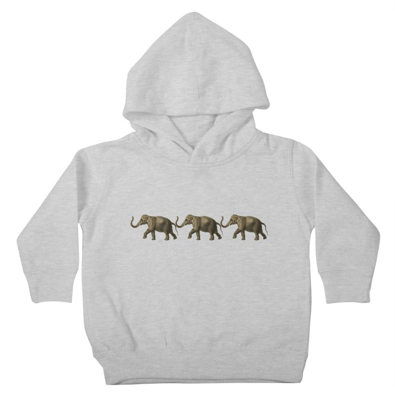Elephants Marching Kids Toddler Pullover Hoody by Green Grackle Studio