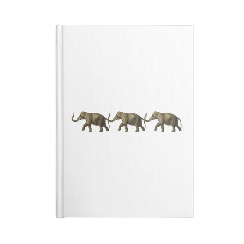 Elephants Marching Accessories Notebook by Green Grackle Studio