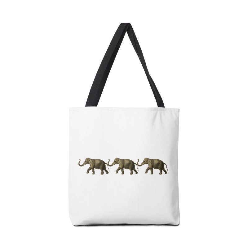 Elephants Marching Accessories Tote Bag Bag by Green Grackle Studio