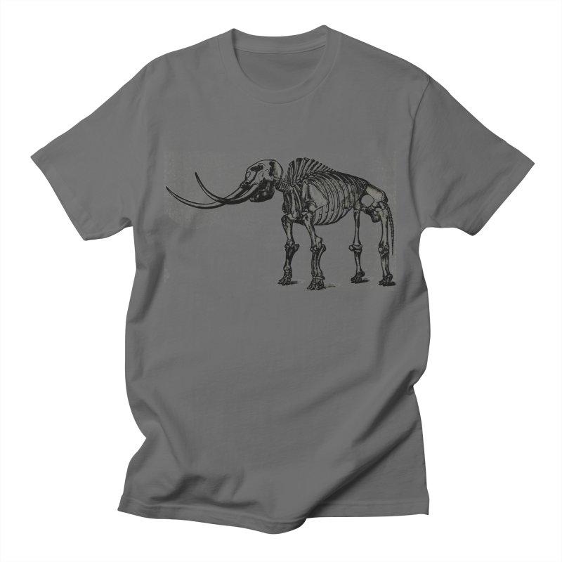Mammoth Skleleton Men's T-Shirt by Green Grackle Studio