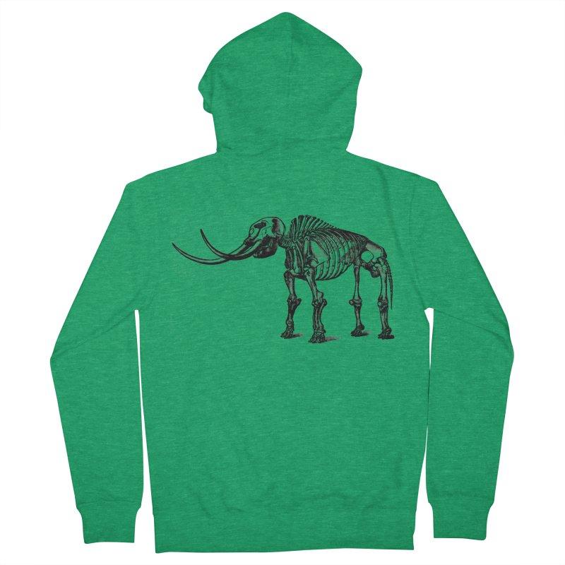 Mammoth Skleleton Men's Zip-Up Hoody by Green Grackle Studio