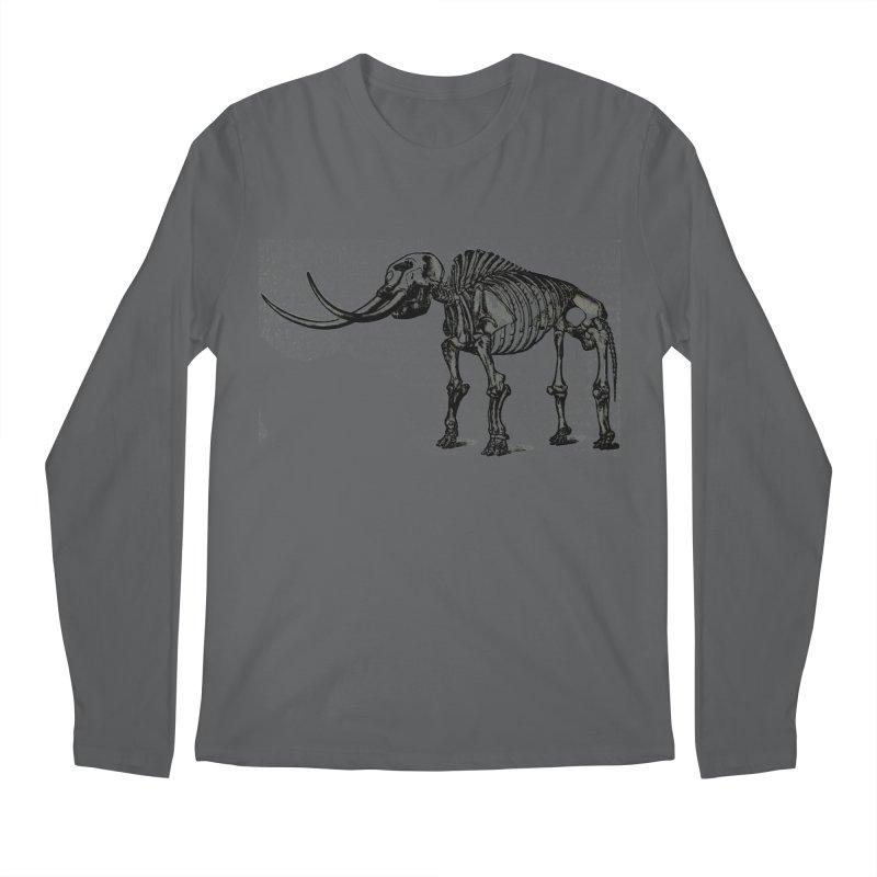 Mammoth Skleleton Men's Longsleeve T-Shirt by Green Grackle Studio