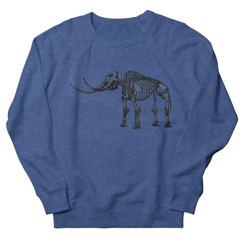 Mammoth Skleleton Men's Sweatshirt by Green Grackle Studio