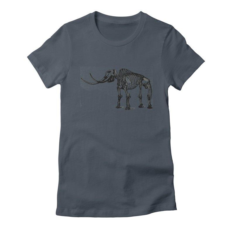 Mammoth Skleleton Women's T-Shirt by Green Grackle Studio