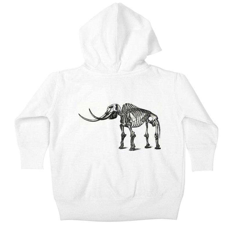 Mammoth Skleleton Kids Baby Zip-Up Hoody by Green Grackle Studio