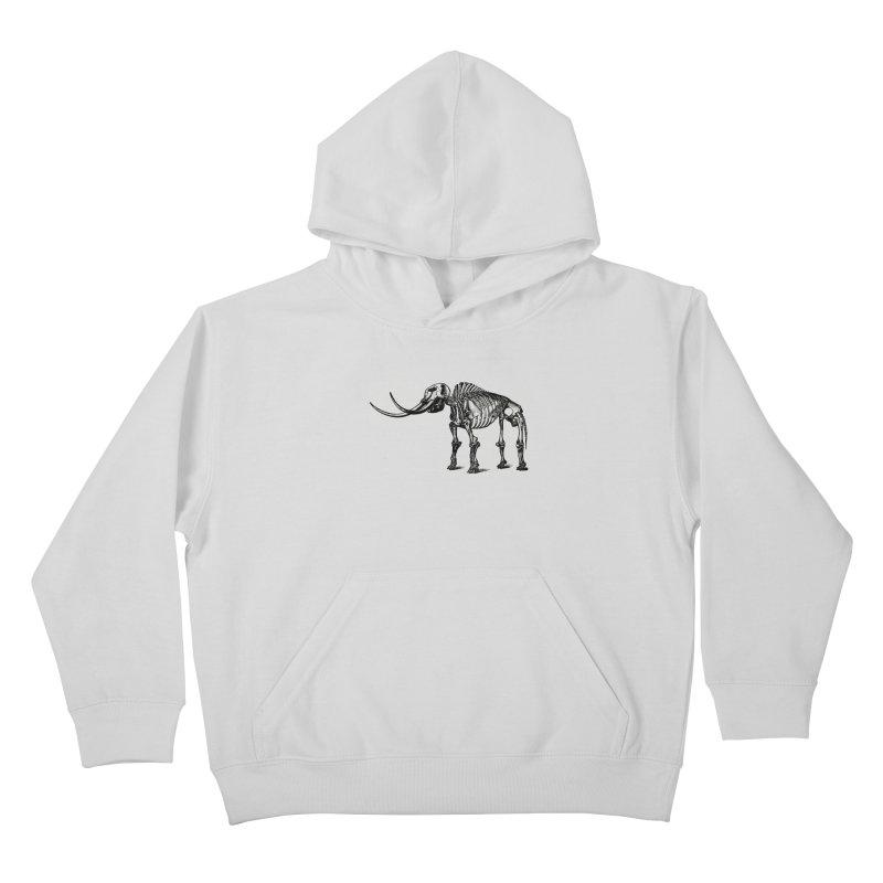 Mammoth Skleleton Kids Pullover Hoody by Green Grackle Studio