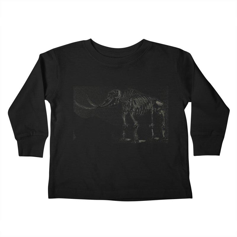 Mammoth Skleleton Kids Toddler Longsleeve T-Shirt by Green Grackle Studio