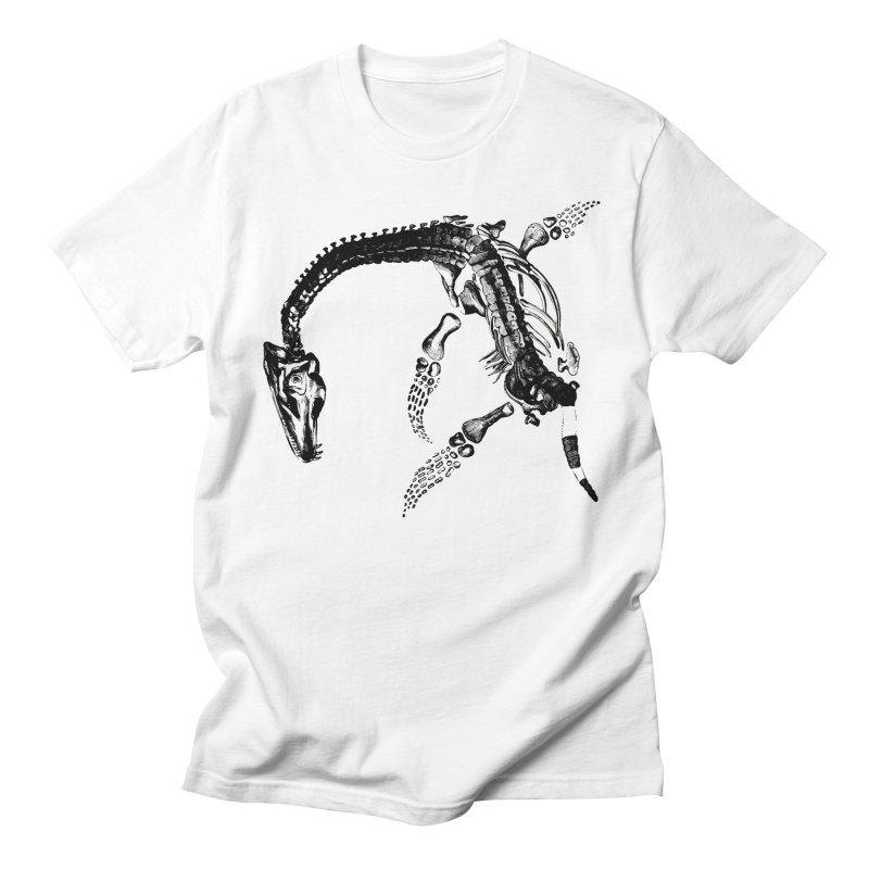 Plesiosaur Skeleton Men's T-Shirt by Green Grackle Studio