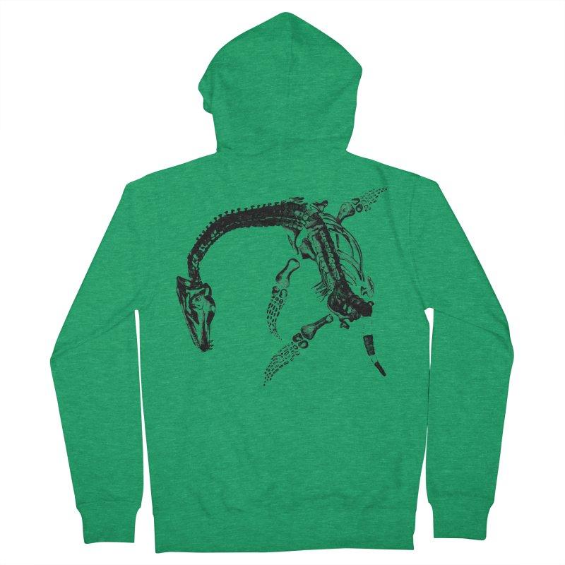 Plesiosaur Skeleton Men's Zip-Up Hoody by Green Grackle Studio