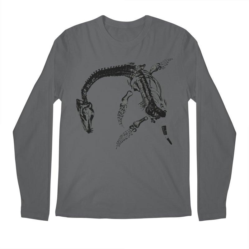 Plesiosaur Skeleton Men's Longsleeve T-Shirt by Green Grackle Studio