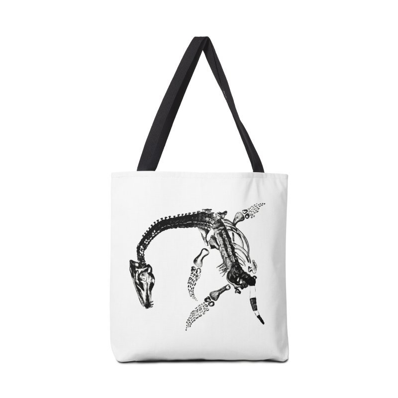 Plesiosaur Skeleton Accessories Bag by Green Grackle Studio